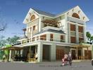 Tư vấn xây dựng biệt thự hợp khối 3 tầng