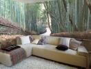 Những bức tranh tường mang hơi thở thiên nhiên cho phòng khách