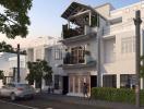Thiết kế nhà 50m2 lệch tầng với 2 giếng trời nhỏ