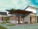 Thiết kế nhà cấp bốn tiện nghi cho gia đình 4 người