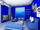 Bí quyết phối hợp gam màu xanh trong thiết kế nhà ở