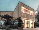 Thiết kế văn phòng bằng gỗ thân thiện với môi trường ở Áo