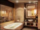 Bật mí cách chọn gạch cho phòng tắm siêu sang