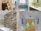 Gợi ý cách trang trí tường phòng tắm đầy ấn tượng