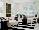 Phòng khách đen trắng – sức lôi cuốn từ gam màu cơ bản