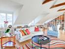 Những ý tưởng sáng tạo tầng gác mái thành không gian sống tiện ích