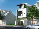 Tư vấn thiết kế nhà mặt phố ba tầng đẹp như biệt thự