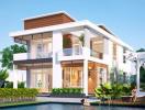 Mẫu thiết kế biệt thự theo phong cách trẻ trung