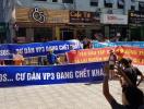 Hà Nội: Dân chung cư căng băng rôn đòi…nước sạch