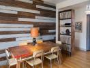 Đưa gỗ tái chế vào phòng ăn một cách tinh tế