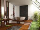 """Mẫu phòng tắm đơn giản mà cực """"chất"""" theo phong cách Nhật"""