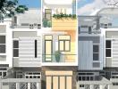 Tư vấn thiết kế xây nhà 2,5 tầng, chi phí 640 triệu