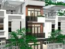 Tư vấn thiết kế nhà 4 tầng, diện tích 48m2 ở Sài Gòn với 960 triệu