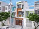 Tư vấn thiết kế nhà hiện đại 3,5 tầng chi phí 1,1 tỷ