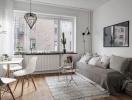 Thiết kế căn hộ một phòng ngủ theo phong cách scandinavia