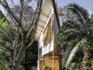Gia chủ xây nhà hình tam giác vì muốn bảo vệ khu vườn