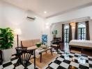 Cải tạo nhà 5 tầng thành nhiều căn hộ với phong cách khác nhau