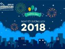 Batdongsan.com.vn thông báo lịch nghỉ Tết Dương lịch 2018