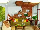 Những ý tưởng trang trí ấn tượng cho trần gỗ