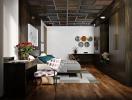 Làm mới nội thất phòng ngủ với tường gỗ