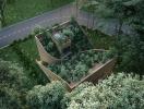 Khu vườn trải dài từ tầng một lên mái của ngôi nhà ở Đức