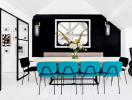 Căn hộ màu ngọc lam cá tính của nhà thiết kế nội thất nổi tiếng thế giới