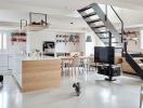 Ngôi nhà màu trắng tinh tế, diện tích 165 m2