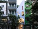 Vẻ ngoài khác lạ của ngôi nhà ở quận Hoàng Mai (Hà Nội)