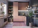 Một số cách phối màu ấn tượng cho phòng bếp hiện đại