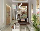 Gợi ý thiết kế nội thất phòng khách nhà ống đẹp trong năm 2019