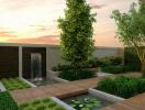 Thiết kế sân vườn biệt thự đẹp, hiện đại