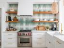 Tăng thêm sức hút cho căn bếp với gạch ốp họa tiết