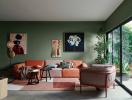 Tư vấn thiết kế nhà 4 tầng màu xanh lá rộng 44m2