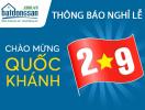 Batdongsan.com.vn thông báo nghỉ Lễ Quốc khánh 2/9
