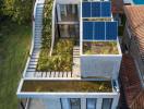 Vườn cây trải dài từ tầng trệt lên mái nhà thỏa mãn niềm đam mê cảnh quan của gia chủ