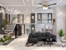 Hoàn thiện căn Duplex cao cấp theo phong cách hiện đại