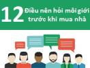 [Infographic] 12 điều cần hỏi môi giới trước khi mua nhà