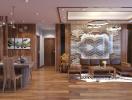 Thiết kế căn hộ 3 phòng ngủ theo phong cách sang trọng, hiện đại