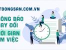 Batdongsan.com.vn thông báo thay đổi thời gian làm việc