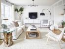 15 hình ảnh minh chứng rằng màu trắng là lựa chọn hàng đầu cho phòng khách nhỏ