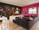 Độc đáo ý tưởng trang trí phòng khách với bảng đen