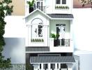Mẫu thiết kế nhà 1 trệt 2 lầu mái Thái theo phong cách Tân cổ điển