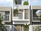 Tư vấn thiết kế nhà phố 2 tầng 1 tum diện tích 5x17m đẹp và thông thoáng