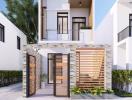 11 mẫu thiết kế mặt tiền nhà phố 2 tầng được ưa chuộng nhất hiện nay