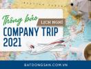 Batdongsan.com.vn thông báo lịch nghỉ Company Trip 2021