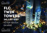 Ban quản lý cho thuê sàn văn phòng FLC Twin Tower, Cầu Giấy. DT 50-800m2, LH 0938613888 300ng/m2/th