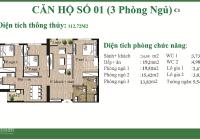 Bán gấp căn hộ 112m2 tòa A7 An Bình City view hồ điều hòa nhà mới tinh chưa sử dụng, giá 3.95 tỷ