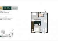 PKD An Gia Hưng chuyển nhượng căn hộ La Cosmo - 2 PN, 62,67m2 giá 3.3 tỷ. Liên hệ xem nhà mẫu