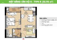 Cần bán gấp căn hộ CC The Era Town Đức Khải, Q7, 1,4 tỷ, 53m2, 1PN, LH 0902339985