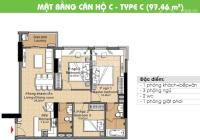 Cần bán gấp căn hộ CC Era Town Đức Khải, Q7, 1,950 tỷ, 97m2, 3PN, LH 0902339985